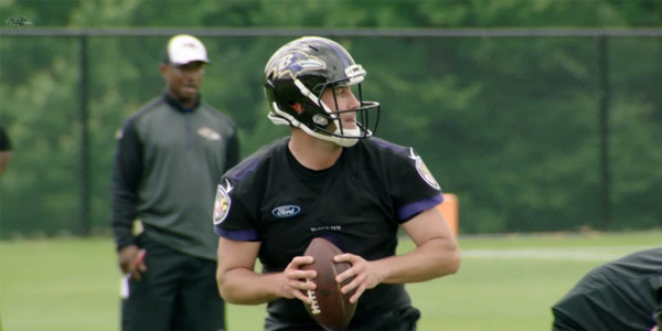 Matt Hits Turf as A Raven